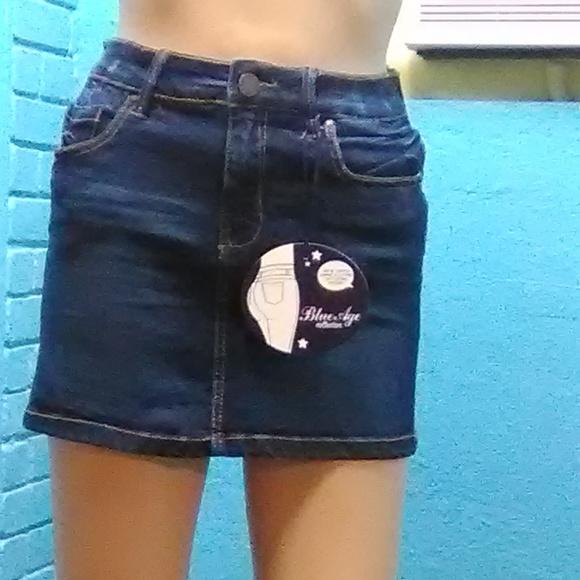 ass skirt Blue short jean